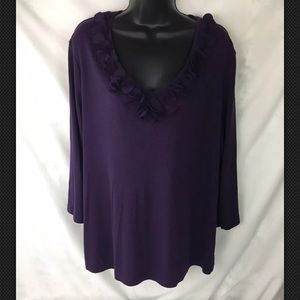 CATO Womens 18/20 W Tunic BLOUSE Purple